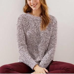 LOFT Marled Grey Sweater